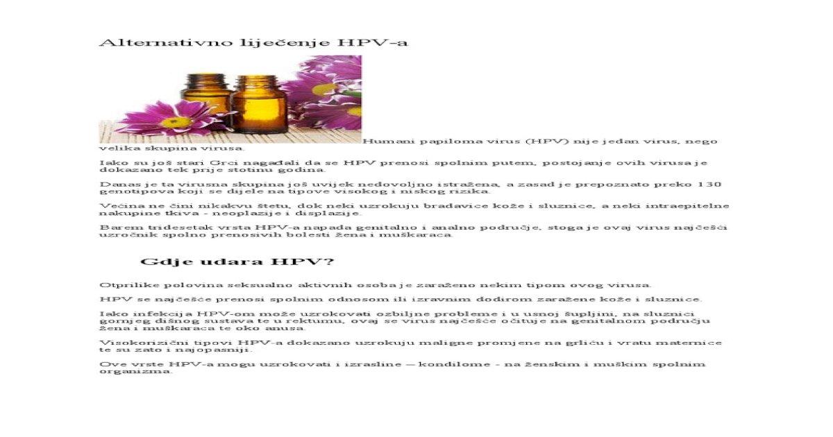 Trattamento papilloma virus