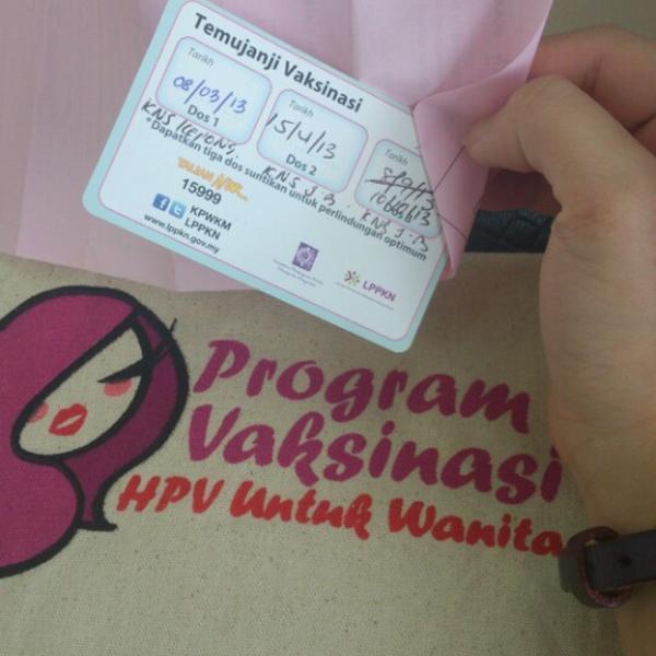 hpv vaccine johor