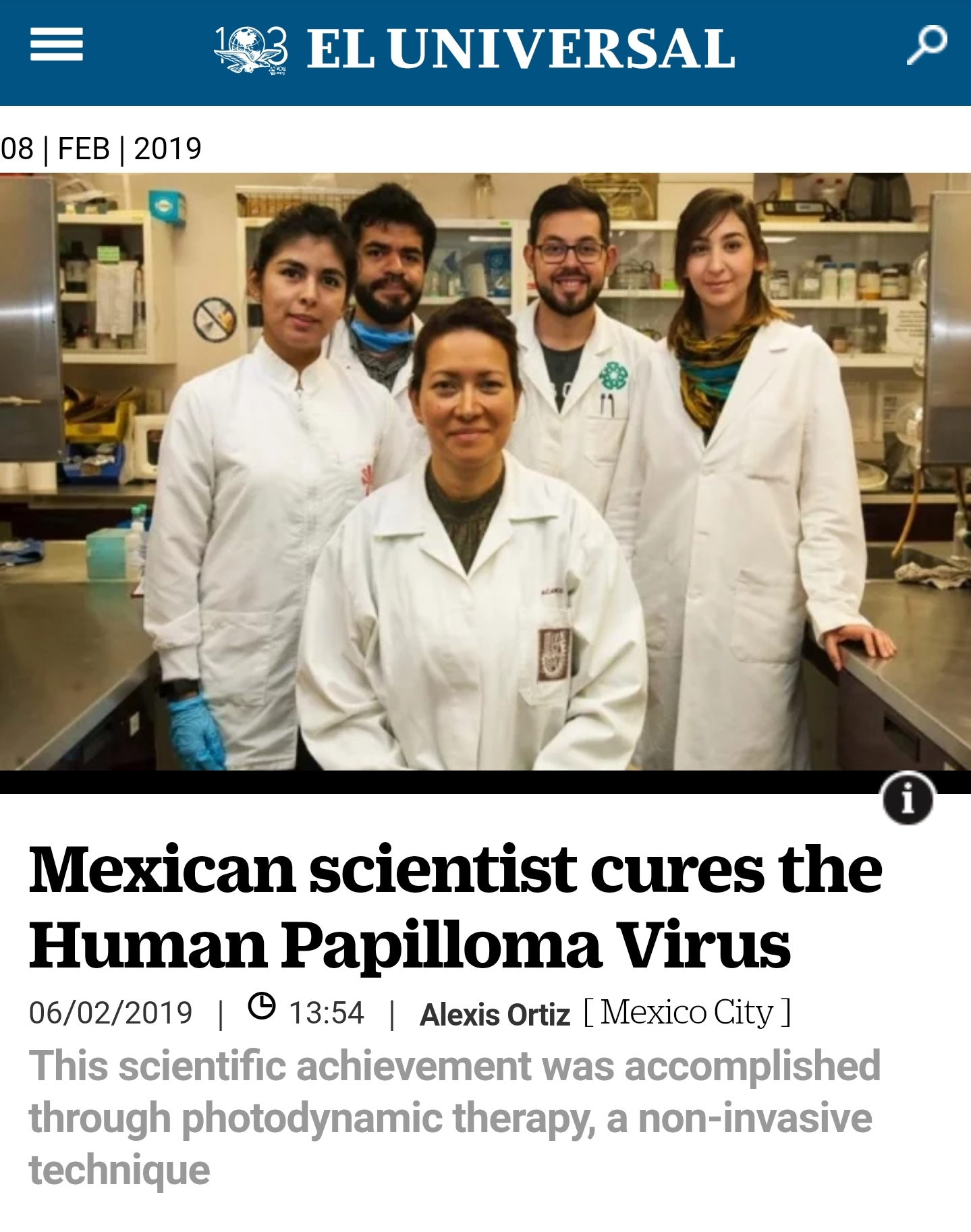 hpv virus cure mexican scientist)
