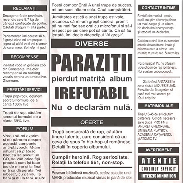 Parazitii – Dulce autodistrugere (versuri)