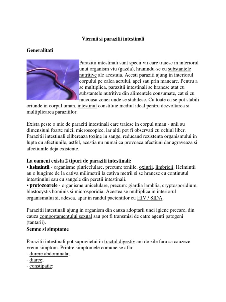 10 Tratamente Naturiste Paraziti Intestinali Adulti - info-tecuci.ro