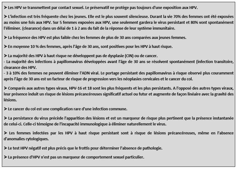 hpv virus frottis