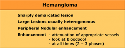 cancer focal hepatic lesions)