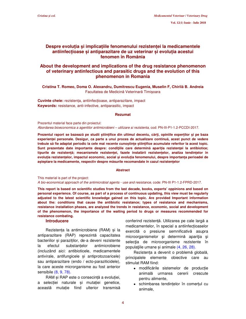 evaluarea medicamentelor antiparazitare pentru oameni)