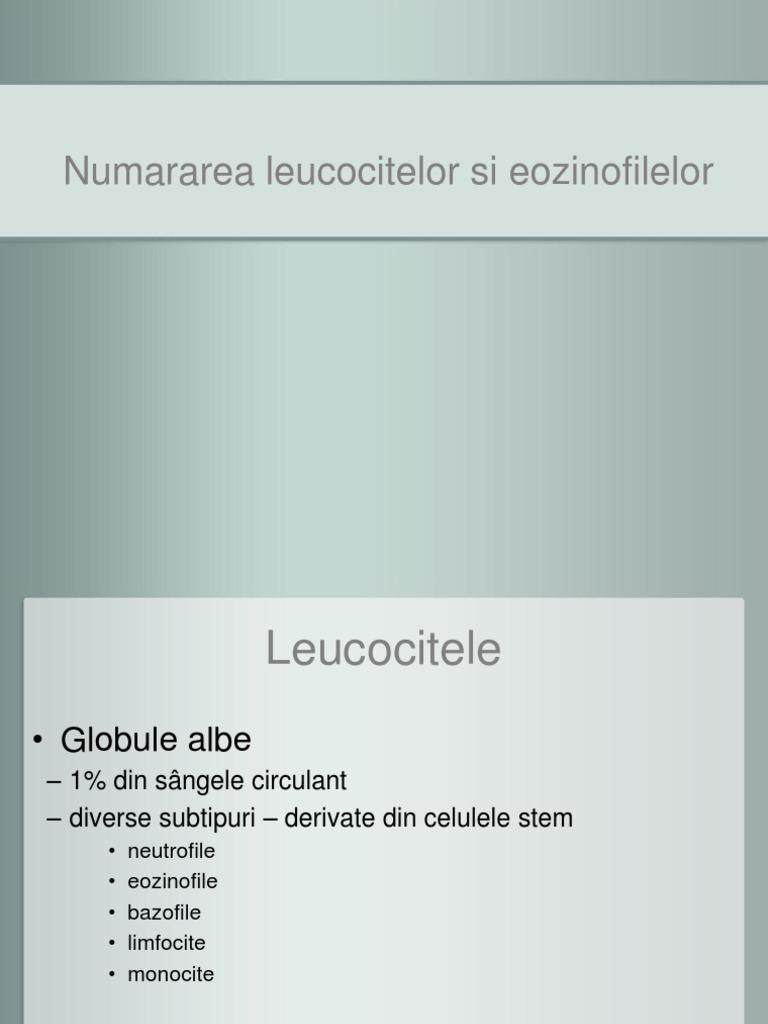 paraziți cu eozinofil scăzut)