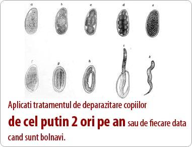 eliminarea viermilor pentru copil