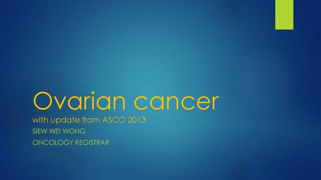 cancer ovarian ppt)