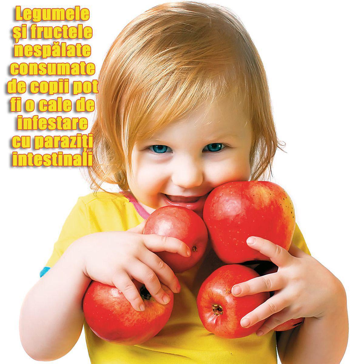 viermi în mărimea copiilor