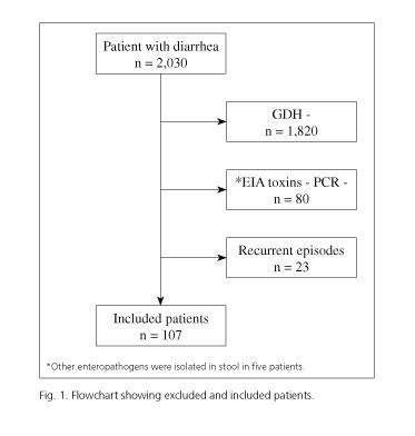 clostridium difficile antigene positif toxine positive