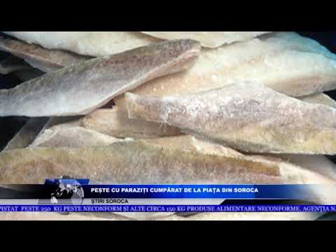 pește nematode