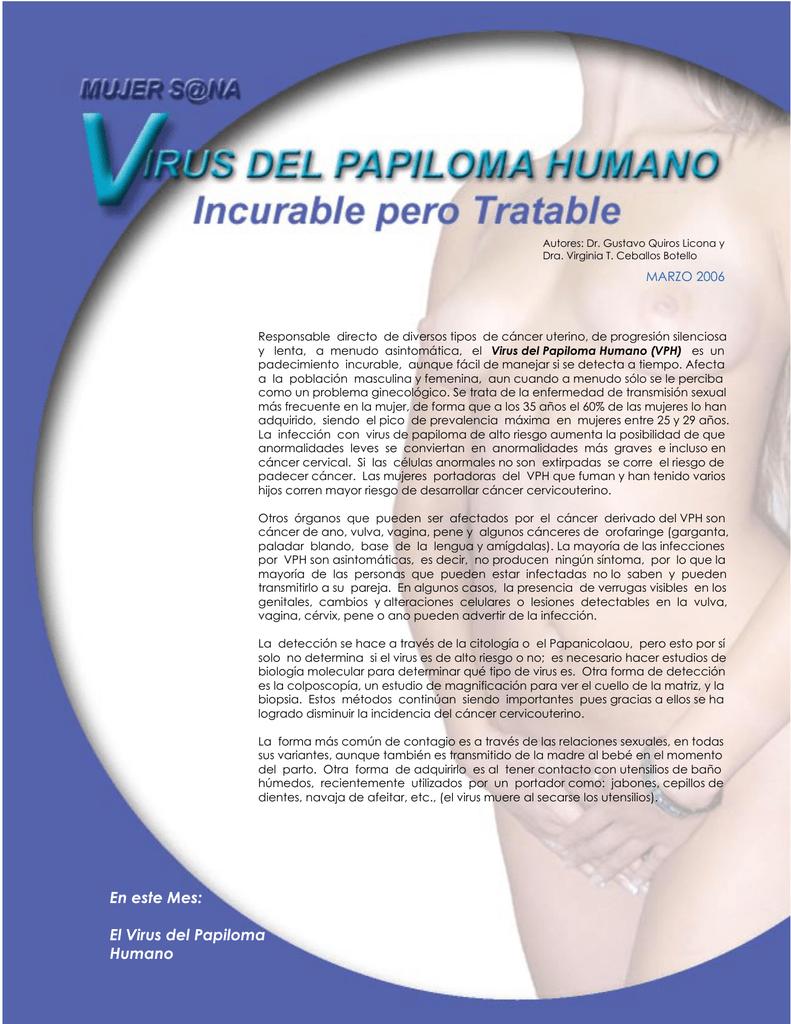 virus del papiloma banos