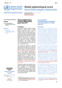 human papillomavirus vaccines who position paper)