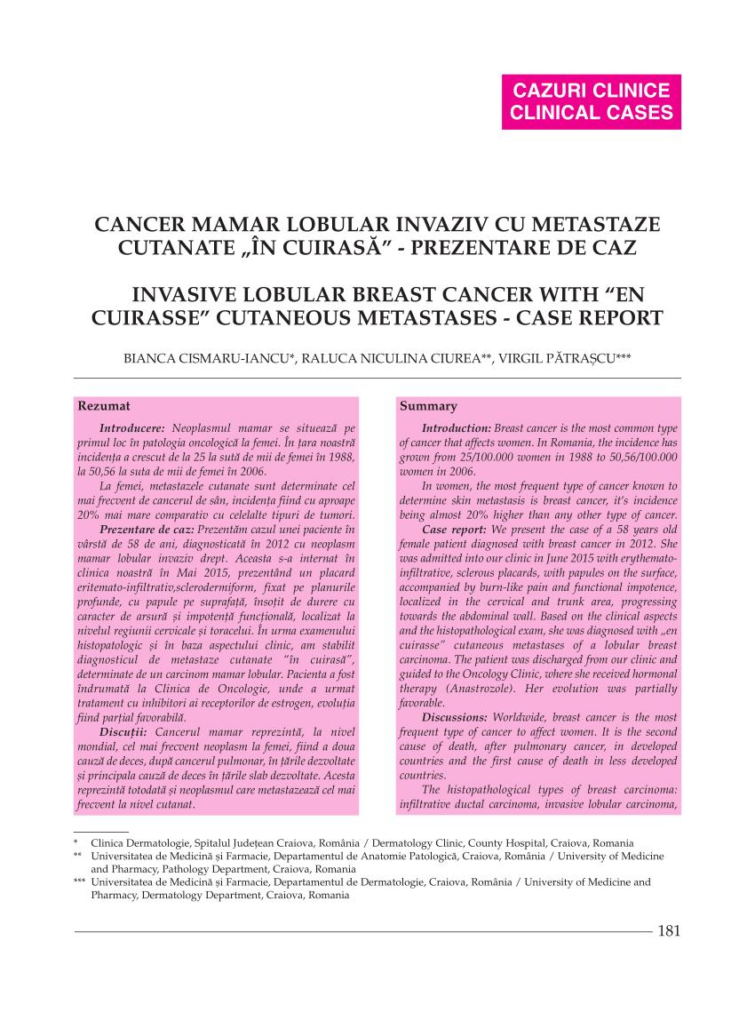 cancer mamar avansat