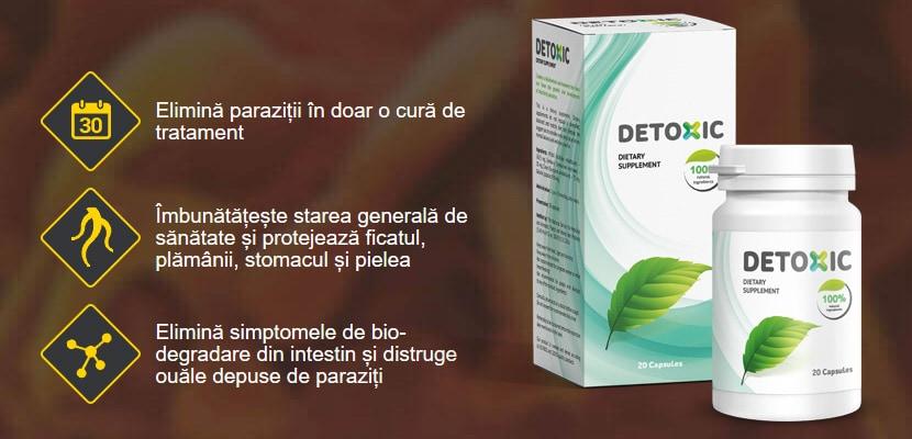 detoxifierea toxinelor și a paraziților)
