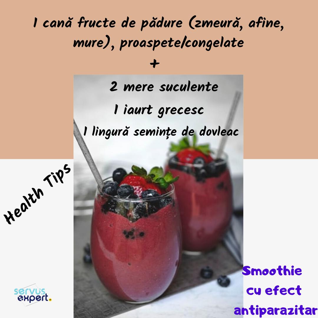 băutură antiparazitară pentru micul dejun)
