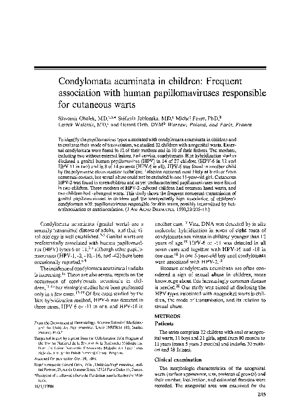condyloma acuminata delivery
