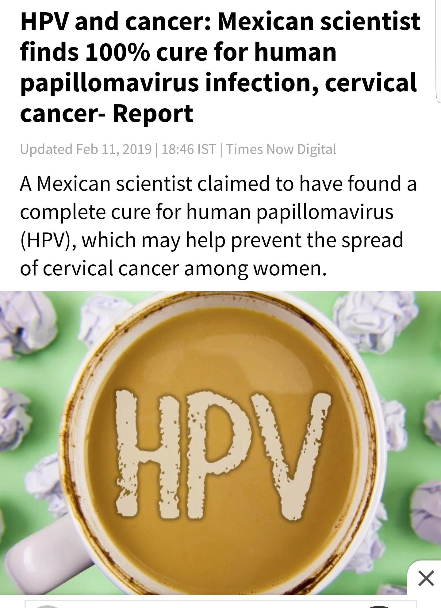 papillomavirus cure)