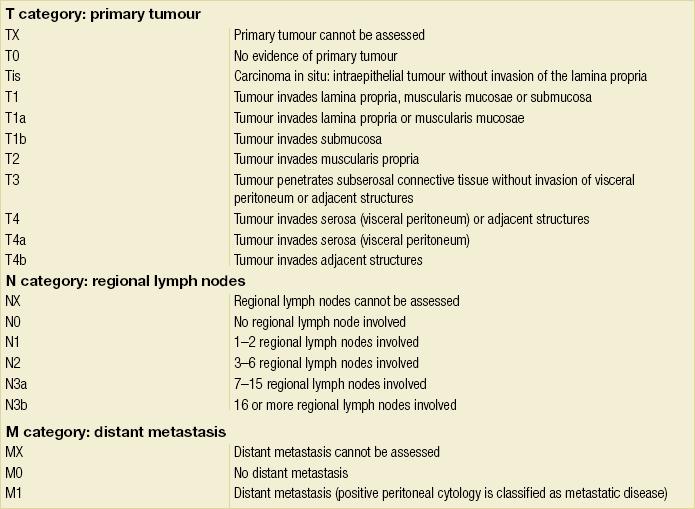 cancer gastric tnm)