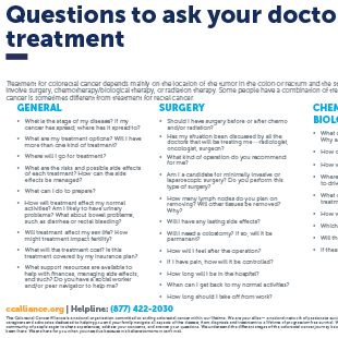 colorectal cancer treatment options)