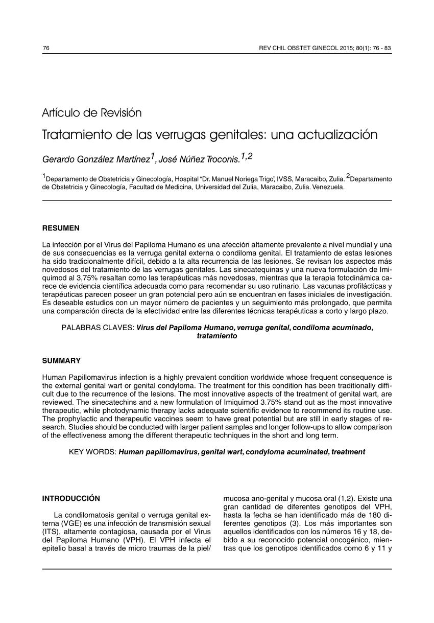 papiloma genital femenino tratamiento)