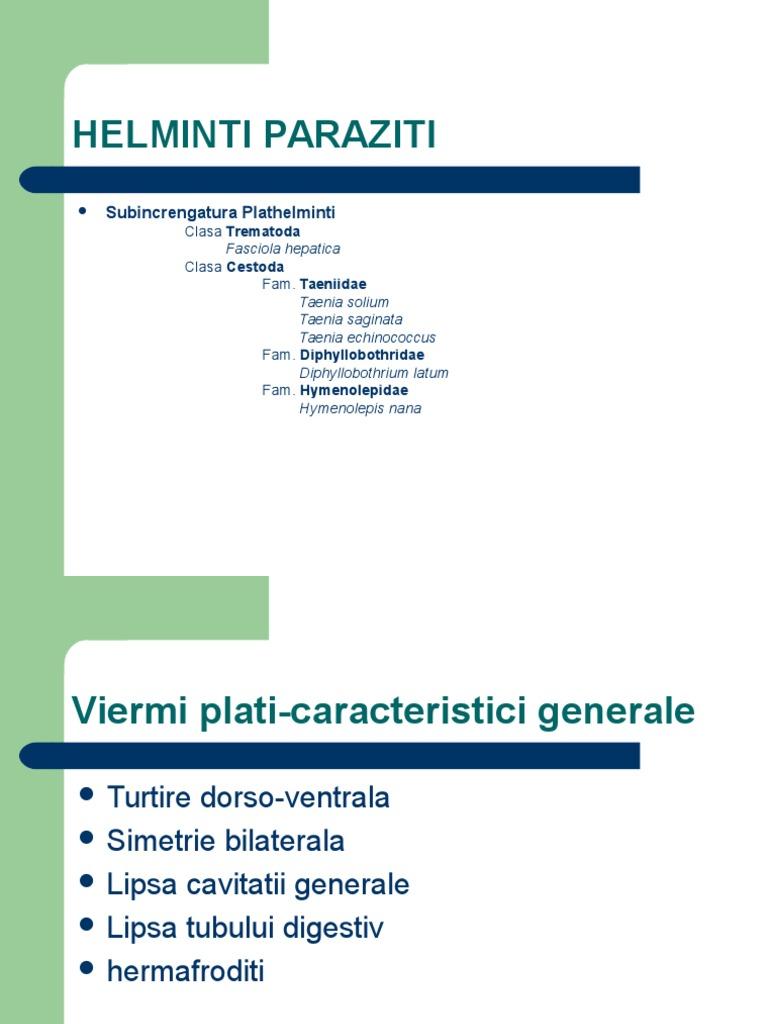 paraziți în terapia gastrică)