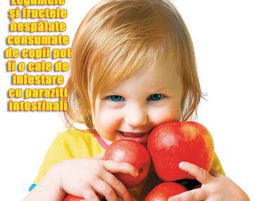 prezența viermilor la un copil)