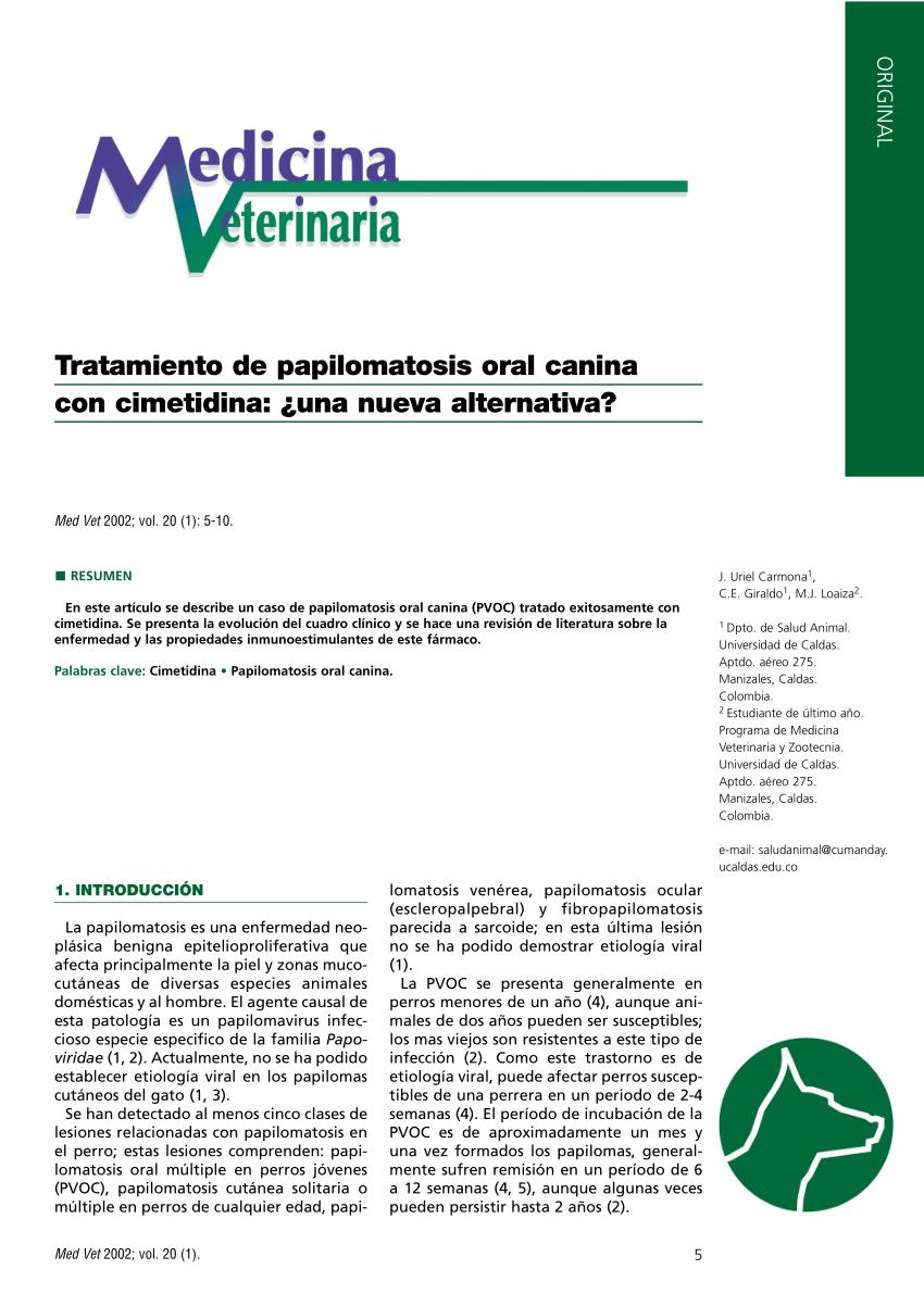 tratamiento para papilomatosis canina)