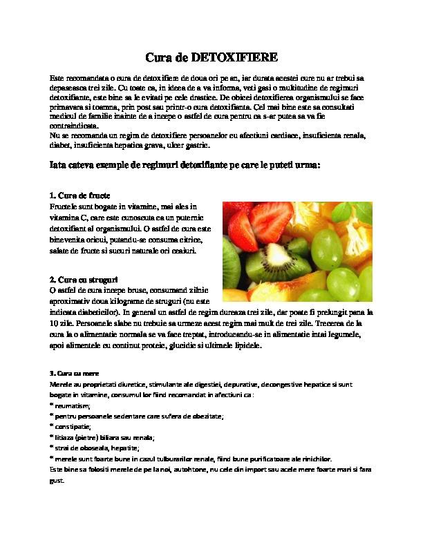 metode de detoxifiere si slabire)