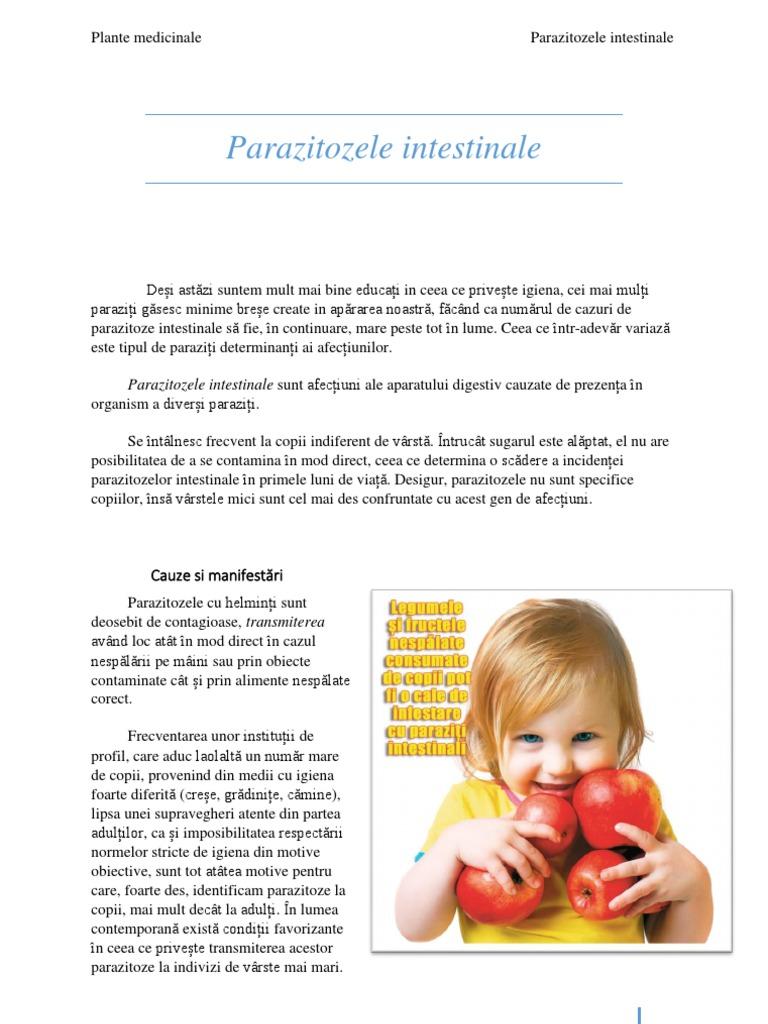 prevenirea paraziților la copii și adulți)