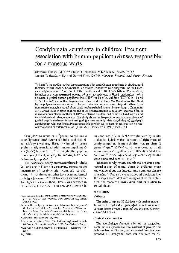 etiologi human papillomavirus)