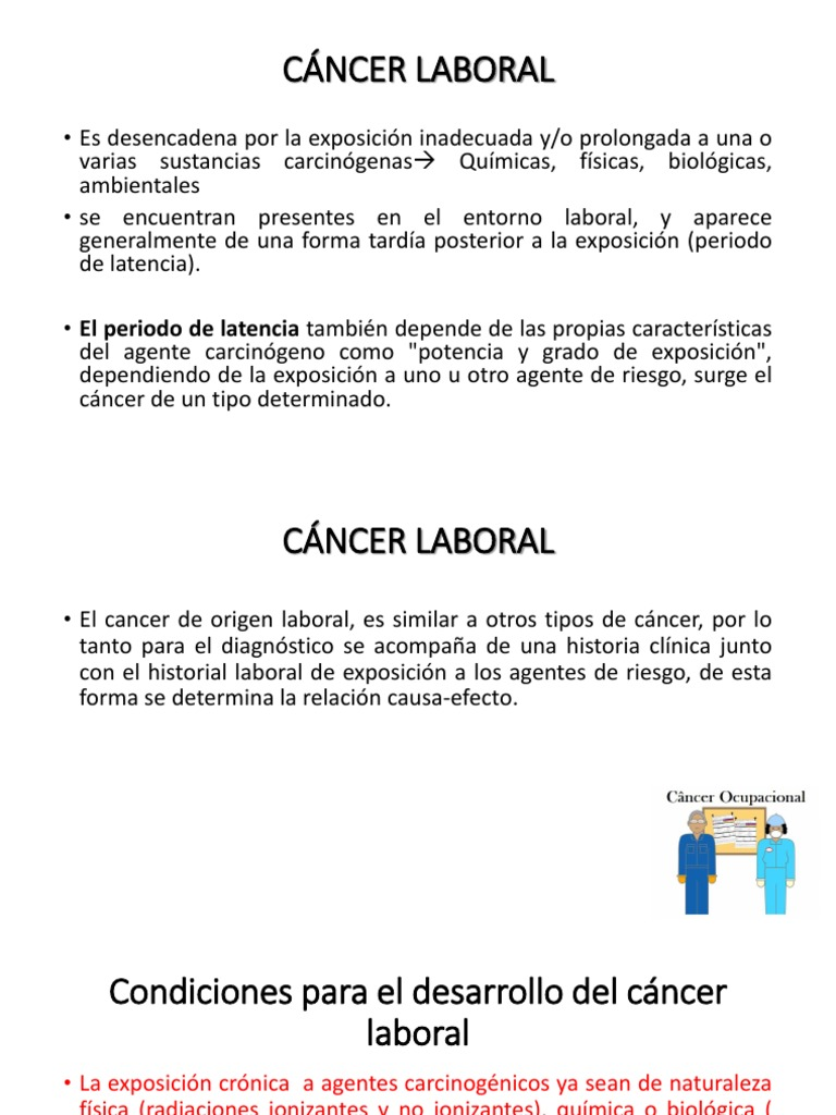 cancer profesional por benceno)