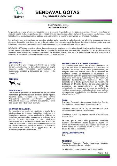 giardia albendazol caes)