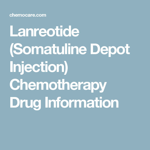 neuroendocrine cancer injections
