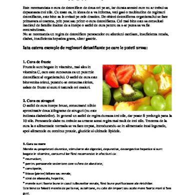 Detoxifiere din mepee. 9 metode pentru o zi de detoxifiere! Alege una dintre ele