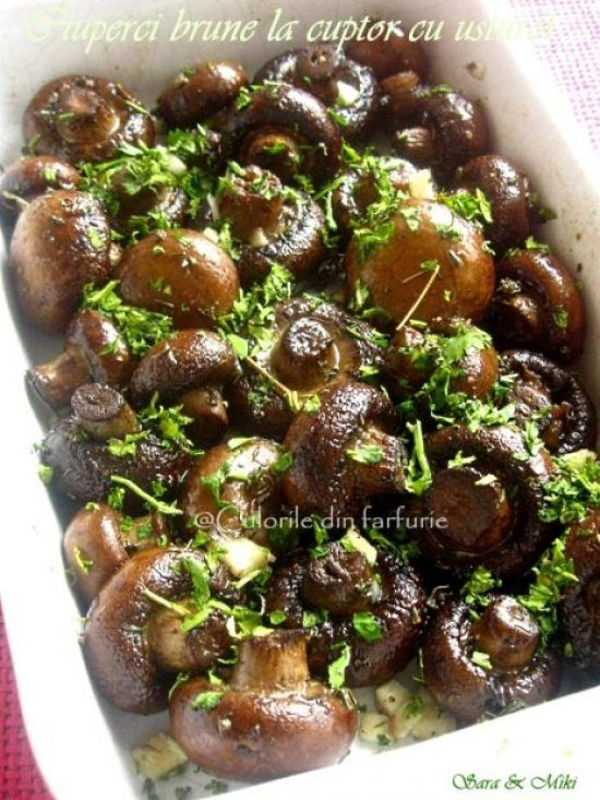 ciuperci brune la tigaie