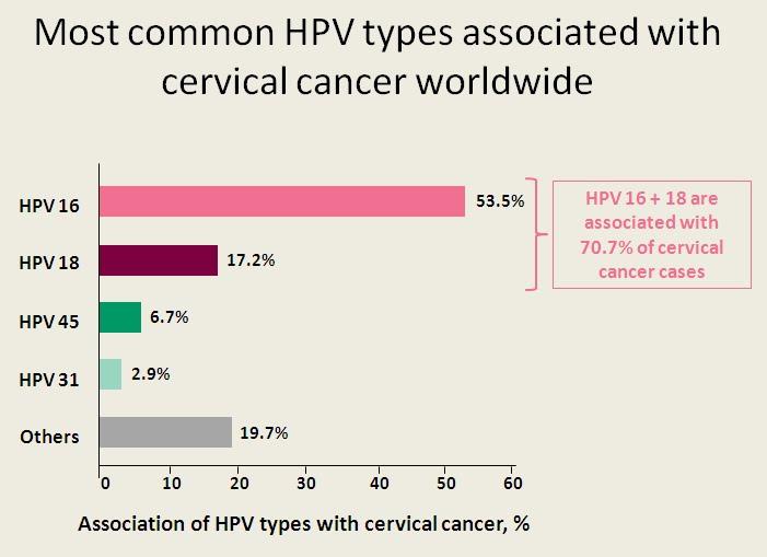 human papillomavirus infection types