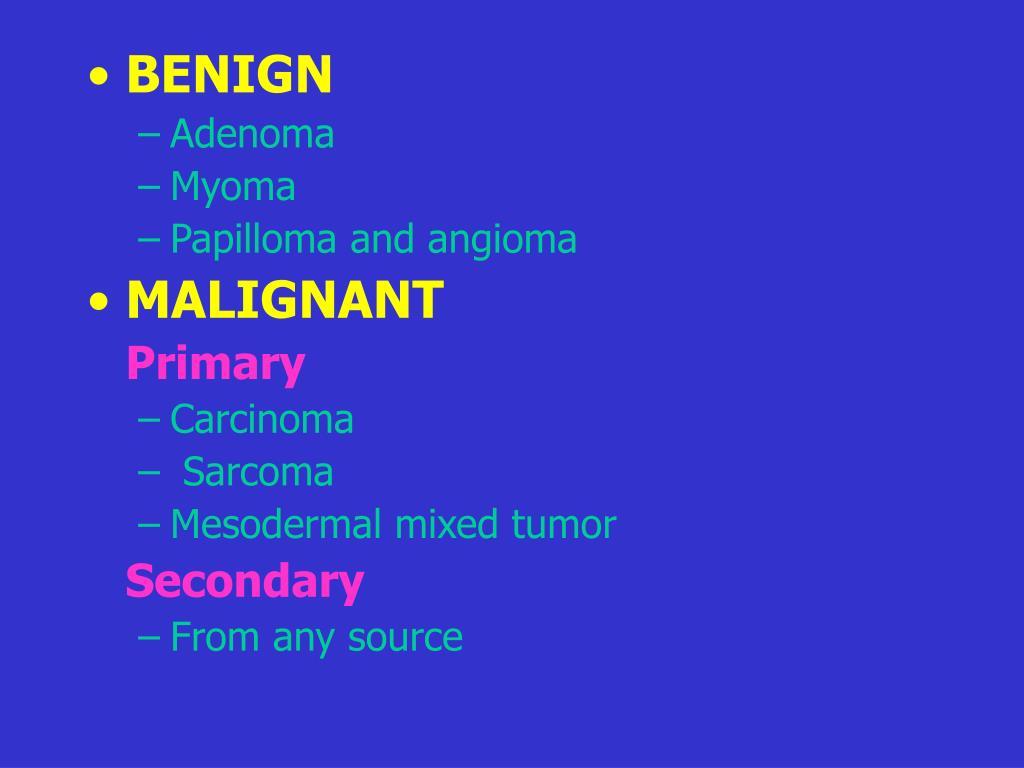is papilloma malignant anemie z nedostatku kyseliny listove
